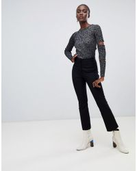 Finery London - Kirby Cropped Kick Flare Tailored Pants - Lyst
