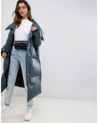 ASOS - Oversized Wrap Front Puffer - Lyst