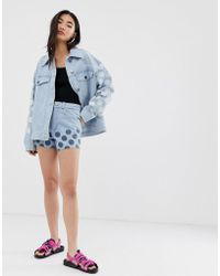 House of Holland - Cut Off Shorts In Spot Print - Lyst
