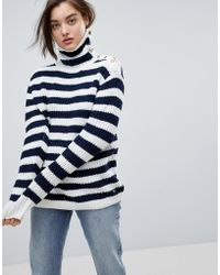 Pepe Jeans - Striped Cotton Jumper/sweater - Lyst