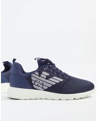 EA7 - Simple Racer Cc Logo Trainers In Navy - Lyst
