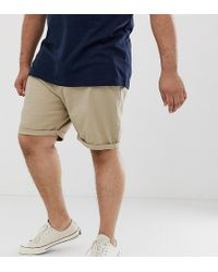 ASOS - Plus Slim Chino Shorts In Putty - Lyst