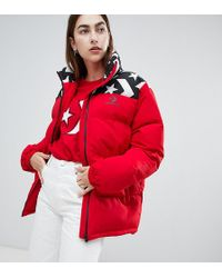 Converse - Oversized Exclusive Red Padded Jacket - Lyst