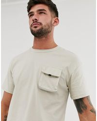 Jack & Jones - Core Box Fit Utility T-shirt In Gray - Lyst