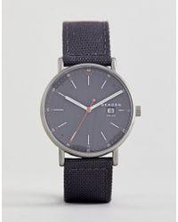 Skagen - Skw6452 Signatur Solar Recycled Canvas Watch In Grey 40mm - Lyst