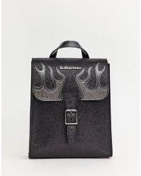 Dr. Martens - Black Mini Glitter Flame Backpack - Lyst 9f4281766f86d
