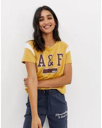 Abercrombie & Fitch - Logo Ringer Tshirt - Lyst