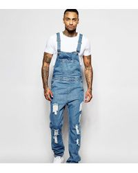 Liquor N Poker - Dungarees Straight Fit Extreme Rips Stonewash - Lyst