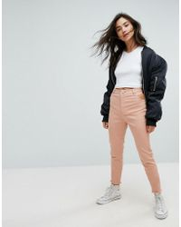 ASOS - Cut Out Side Skinny Trousers - Lyst
