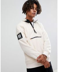 Volcom - Abandoned Playground Sherpa Fleece 1/4 Zip Sweatshirt In White - Lyst