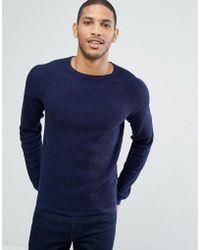 SELECTED - Crew Neck Knit In Marl - Lyst