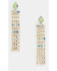 ASOS - Vistosi orecchini oro con pendenti con cristalli pastello asimmetrici - Lyst