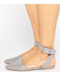 The March - Ankle Strap Point Flat Shoes - Lyst