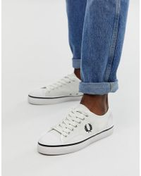 Fred Perry - Hughes Low Suede Trainers In Off White - Lyst
