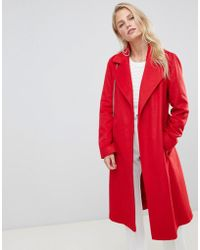 Helene Berman - Belted Wrap Coat In Wool Blend - Lyst