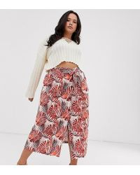 32a636796 ASOS Column Pencil Skirt In Textured Geo-Tribal Print - Lyst