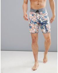 Quiksilver - Highline Silver Fur Swim Shorts In Mutli Print - Lyst