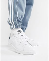 adidas Originals - Stan Smith Leather Trainers In White M20325 - Lyst