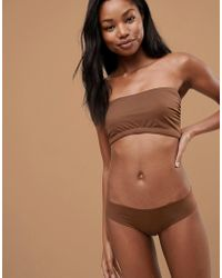 217643cb16 Nubian Skin - Naked Collection Nude Bandeau Bra In Dark - Lyst
