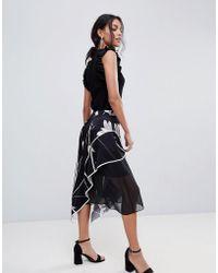 Coast - Printed Soft Midi Skirt - Lyst