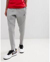 Nike - Nike Flight Fleece Tech Joggers In Grey 879499-091 - Lyst