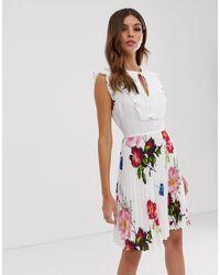 Ted Baker Платье С Завязкой На Воротнике - Rommanna - Белый