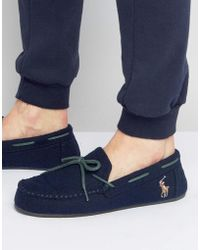 Ralph Lauren - Rustle Moccasin Slippers - Lyst