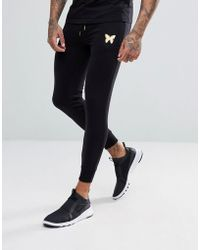 Good For Nothing - Skinny Joggers In Black With Gold Logo - Lyst