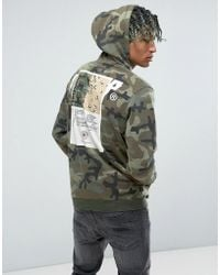 10.deep - 10.deep Camo Hoodie With Back Patch - Lyst