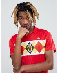 adidas Originals - Retro Belgium Football Jersey In Red Ce2337 - Lyst