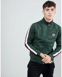 Pretty Green - Tricot Track Jacket In Green - Lyst