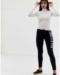 Hollister - Cosy Skinny joggers With Large Logo - Lyst