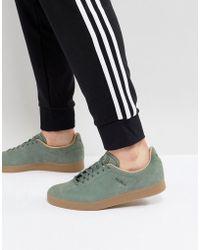 Adidas originali gazzella scarpe in verde bz0033 in verde per gli uomini.