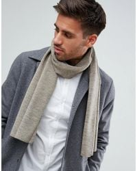New Look - Jersey Scarf In Stone - Lyst