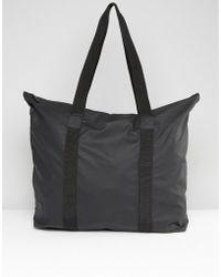 Rains - Large Tote Bag In Black - Lyst