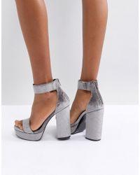 8449c791f3c7 ASOS - Asos Hairspray Platform Heeled Sandals - Lyst