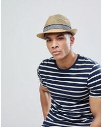 ec89f15c315 Lyst - Barts Aveloz Summer Trilby Hat in Brown for Men