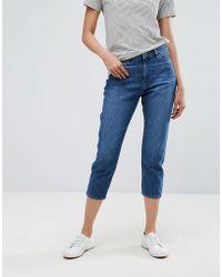 fbd6b5f398b3e Esprit - Cropped Mom Jeans - Lyst