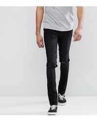 Cheap Monday - Tall Tight Black Skinny Jeans With Knee Rip - Lyst