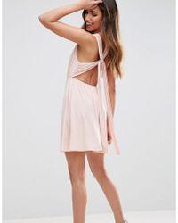 ASOS - Sash Back Mini Skater Dress - Lyst