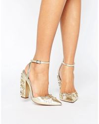 ASOS | Pall Mall Bridal Embellished Heels | Lyst