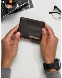 French Connection - Leather Wallet With Metal Bar - Lyst
