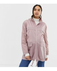 2992984218e70 TOPSHOP maternity Raspberry Denim Jacket in Purple - Lyst