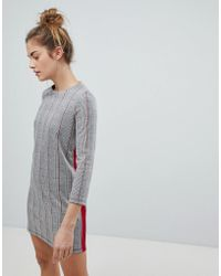 Pull&Bear - Checked Jersey Dress - Lyst