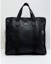ASOS - Large Oversized Tote Bag In Black - Lyst