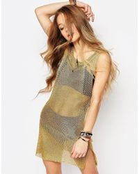 ebonie n ivory - Festival Metallic Knit Dress - Lyst