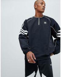 adidas Originals - Authentic Half Zip Top In Black Dh3837 - Lyst