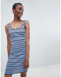New Look - Stripe Bodycon Dress - Lyst