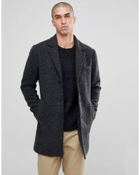 Only & Sons - Salt And Pepper Overcoat - Lyst