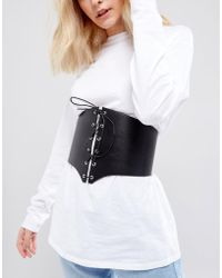 ASOS - Extra Wide Lace Up Corset Belt - Lyst